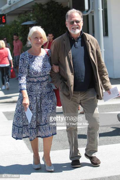 Helen Mirren and Taylor Hackford are seen on May 2 2017 in Los Angeles California