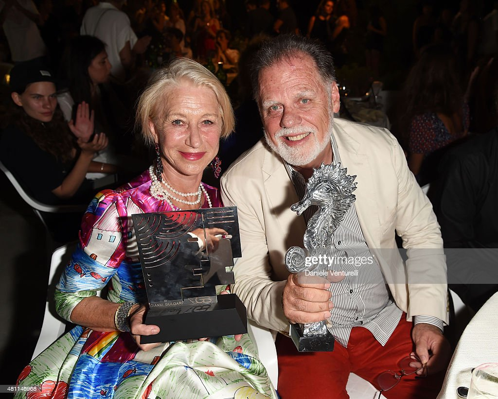 Helen Mirren and Taylor Hackford attend 2015 Ischia Global Film & Music Fest - Day 5 on July 17, 2015 in Ischia, Italy.