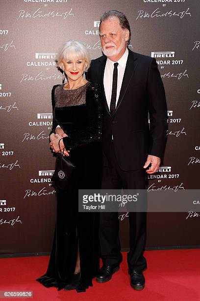 Helen Mirren and Taylor Hackford attend the 2016 Pirelli Calendar unveiling gala at La Cite Du Cinema on November 29 2016 in SaintDenis France