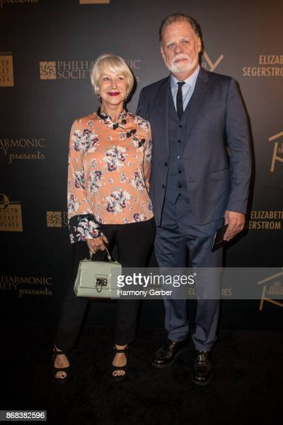 Helen Mirren and Taylor Hackford attend the 50th Anniversary Of South Coast Plaza at Segerstrom Center For The Arts on October 30 2017 in Costa Mesa...