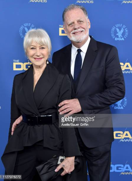 Helen Mirren and Taylor Hackford attend the 71st Annual Directors Guild of America Awards at The Ray Dolby Ballroom at Hollywood Highland Center on...