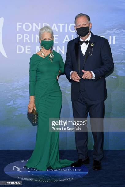 Helen Mirren and Taylor Hackford attend the Monte-Carlo Gala For Planetary Health on September 24, 2020 in Monte-Carlo, Monaco.