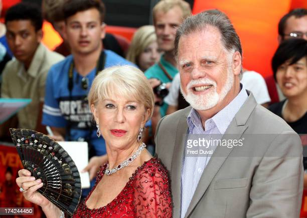 Helen Mirren and Taylor Hackford attend the Red 2 Premiere at Empire Leicester Square on July 22 2013 in London England