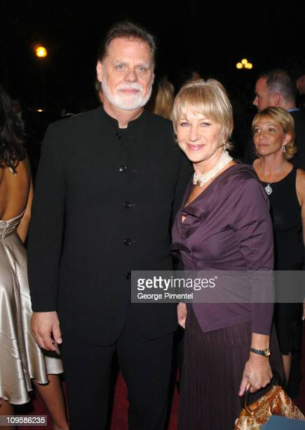 Helen Mirren and Taylor Hackford director during 2004 Toronto International Film Festival Ray Premiere at Roy Thompson Hall in Toronto Ontario Canada