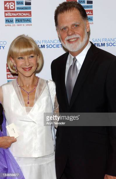 Helen Mirren and Taylor Hackford during 48th San Francisco International Film Festival Film Society Awards Night Honors Joan Allen Taylor Hackford...