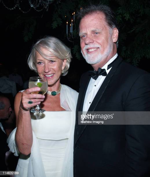 Helen Mirren and Taylor Hackford during 58th Annual Primetime Emmy Awards Governors Ball at The Shrine Auditorium in Los Angeles California United...