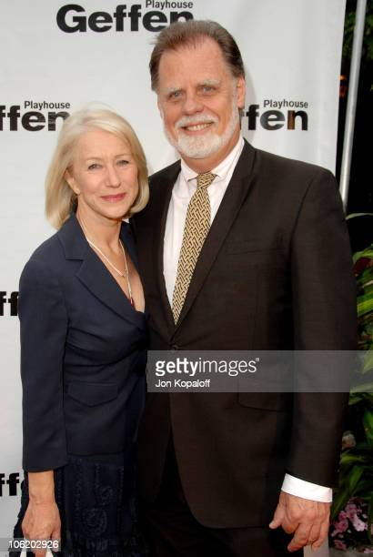 Helen Mirren and Taylor Hackford during 5th Annual Backstage At The Geffen Gala Arrivals at Warner Bros Lot in Westwood California United States