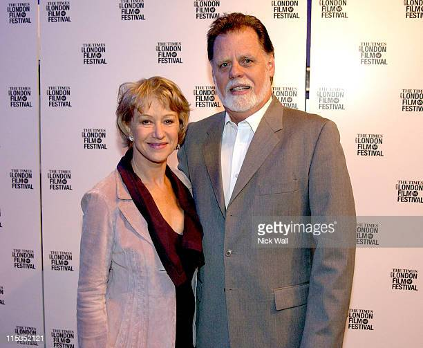Helen Mirren and Taylor Hackford during The Times BFI London Film Festival 2004 Ray Screening in London Great Britain