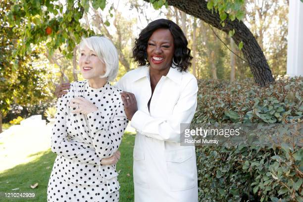 Helen Mirren and Viola Davis join L'Oréal Paris to celebrate the launch of Age Perfect Cosmetics on March 03, 2020 in Beverly Hills, California.