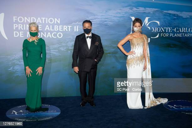 Helen Mirren, Andy Garcia and Kate Beckinsale attend the Monte-Carlo Gala For Planetary Health on September 24, 2020 in Monte-Carlo, Monaco.