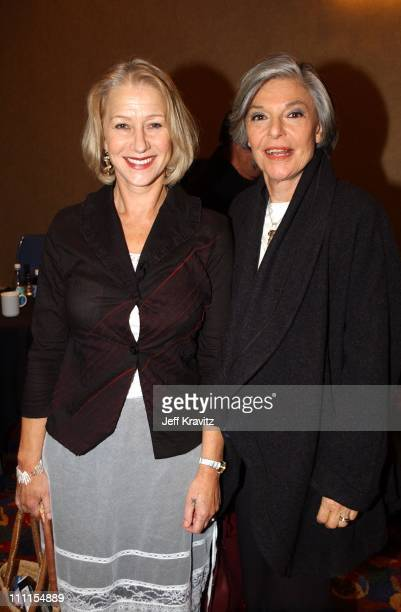 Helen Mirren Anne Bancroft during Showtime Networks Inc Television Critics Associations Presentation at Renaissance Hotel in Hollywood CA United...