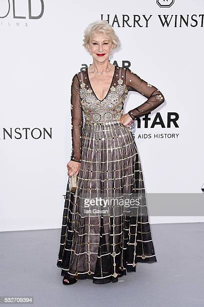 Helen Mirren arrives at amfAR's 23rd Cinema Against AIDS Gala at Hotel du CapEdenRoc on May 19 2016 in Cap d'Antibes France