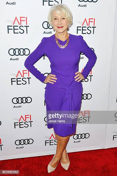 Helen Mirren arrives at Premiere of Sony Pictures Classics' 'The Comedian' at the Egyptian Theatre on November 11 2016 in Hollywood California