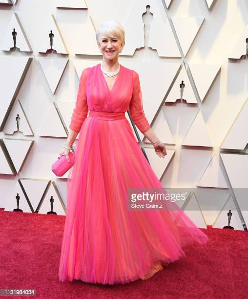 Helen Mirren arrives at the 91st Annual Academy Awards at Hollywood and Highland on February 24 2019 in Hollywood California