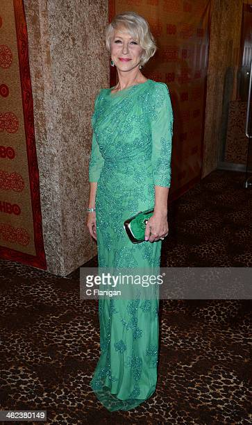Helen Mirren arrives at the HBO Golden Globe After Party at The Beverly Hilton Hotel on January 12 2014 in Los Angeles California