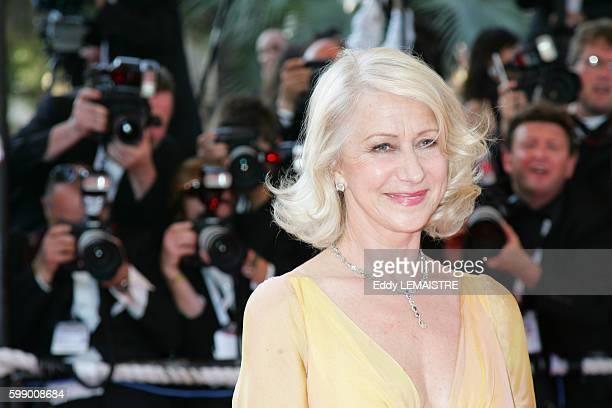 Helen Mirren arrives at the premiere of 'Chacun Son Cinema' during the 60th Cannes Film Festival