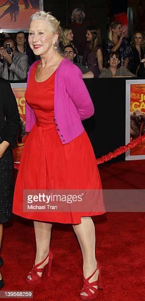 Helen Mirren arrives at the world premiere of Disney's John Carter held at Regal Cinemas LA Live on February 22 2012 in Los Angeles California