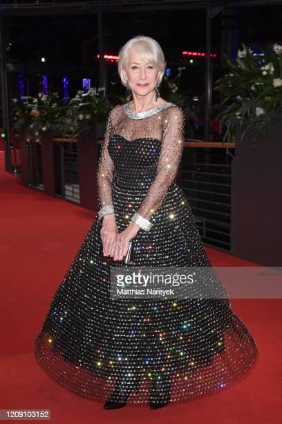 Helen Mirren arrives for the Homage Helen Mirren Honorary Golden Bear award ceremony during the 70th Berlinale International Film Festival Berlin at...