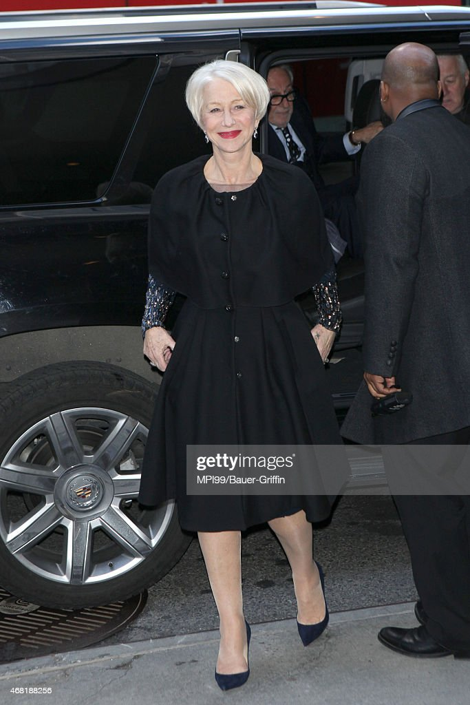 Helen Mirren arriving for the New York premiere of Woman in Gold on March 30, 2015 in New York City.
