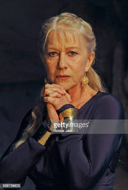 Helen Mirren as Phedre in Jean Racine's play Phedre a version by Ted Hughes directed by Nicholas Hytner at the National Theatre in London