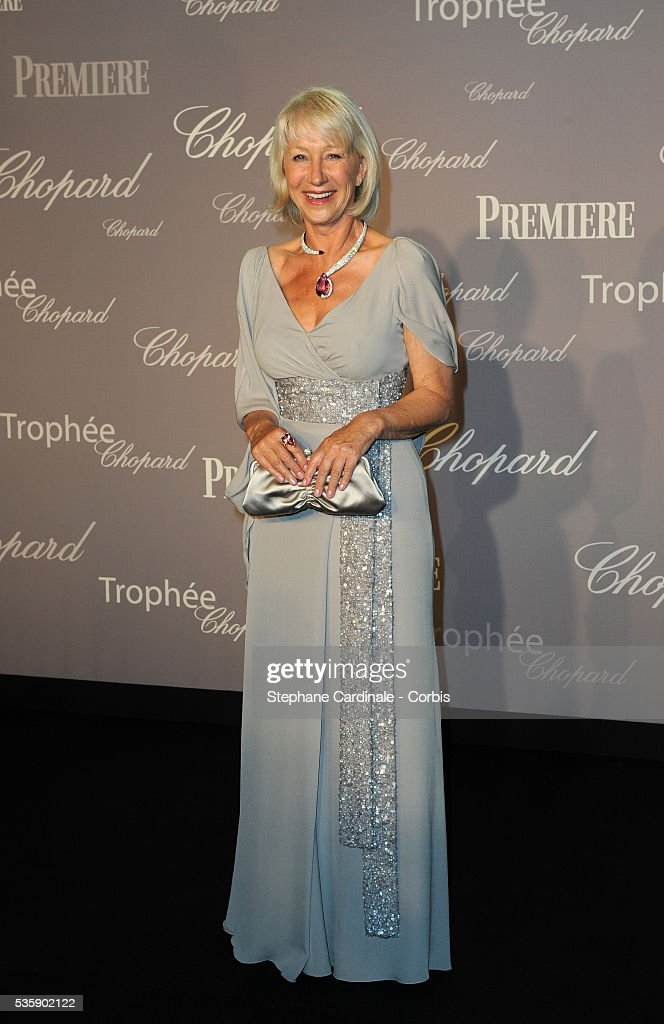 Helen Mirren at the Chopard Trophy during the 63rd Cannes International Film Festival.