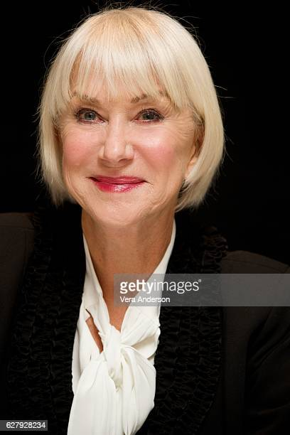 """Helen Mirren at the """"Collateral Beauty"""" Press Conference at the Crosby Street Hotel on December 3, 2016 in New York City."""