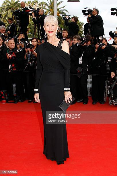 Helen Mirren attend the 'Robin Hood' Premiere at the Palais des Festivals during the 63rd Annual Cannes Film Festival on May 12 2010 in Cannes France