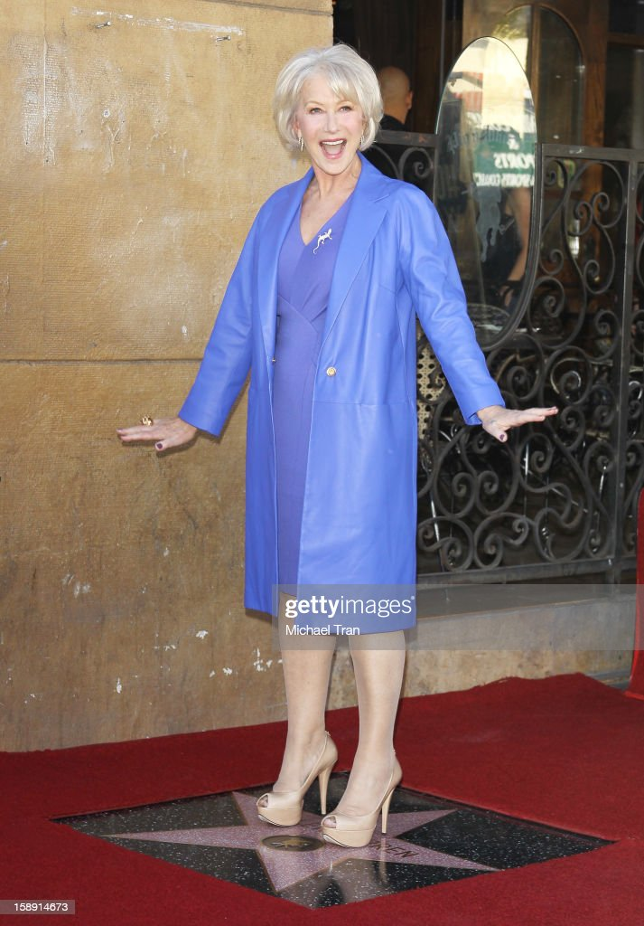 Helen Mirren attends at the ceremony honoring her with a Star on The Hollywood Walk of Fame held on January 3, 2013 in Hollywood, California.