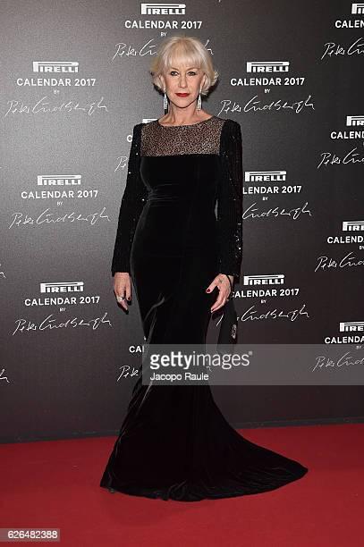 Helen Mirren attends Pirelli Calendar 2017 by Peter Lindberg photocall at La Cite Du Cinema on November 29 2016 in SaintDenis France