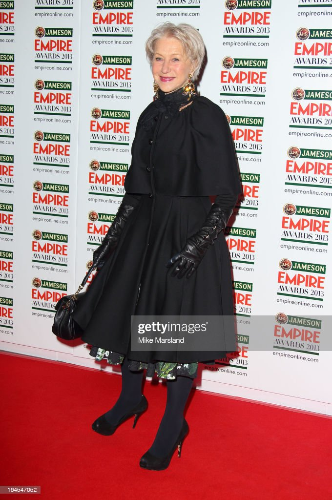 Helen Mirren attends the 18th Jameson Empire Film Awards at Grosvenor House, on March 24, 2013 in London, England.