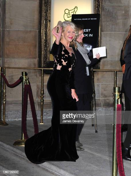 Helen Mirren attends the 2011 National Board of Review Awards gala at Cipriani 42nd Street on January 10 2012 in New York City