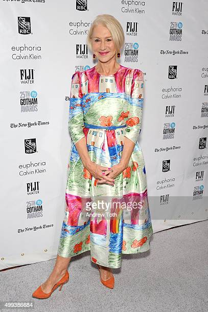 Helen Mirren attends the 25th annual Gotham Independent Film Awards at Cipriani Wall Street on November 30 2015 in New York City