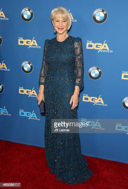 Helen Mirren attends the 66th Annual Directors Guild Of America Awards held at the Hyatt Regency Century Plaza on January 25, 2014 in Century City,...