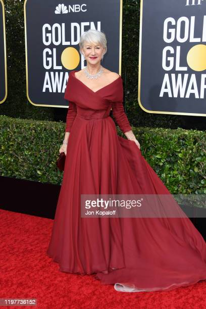 Helen Mirren attends the 77th Annual Golden Globe Awards at The Beverly Hilton Hotel on January 05 2020 in Beverly Hills California