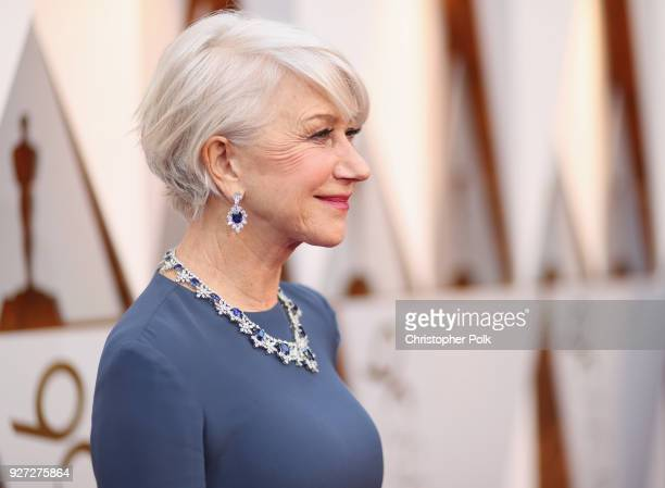 Helen Mirren attends the 90th Annual Academy Awards at Hollywood Highland Center on March 4 2018 in Hollywood California