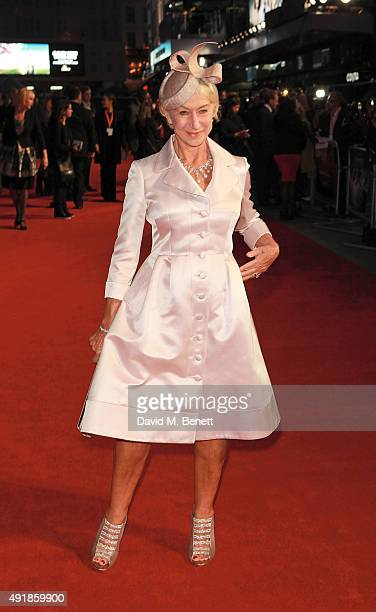 Helen Mirren attends the Accenture Gala Screening of 'Trumbo' during the BFI London Film Festival at Odeon Leicester Square on October 8 2015 in...