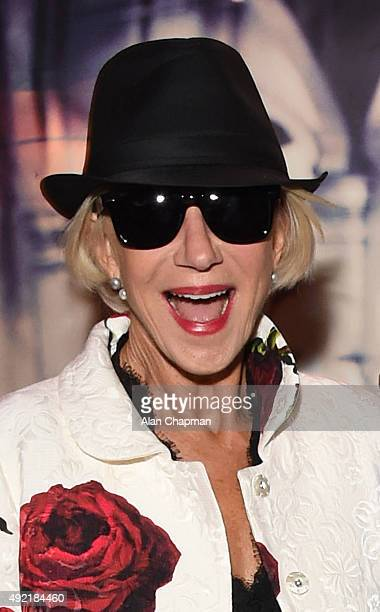Helen Mirren attends the after party of the UK Premiere of Live From New York during the BFI London Film Festival at The Groucho Club on October 10...