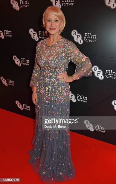 Helen Mirren attends the annual BFI Chairman's Dinner honouring Peter Morgan with the BFI Fellowship at Claridge's Hotel on February 21 2017 in...