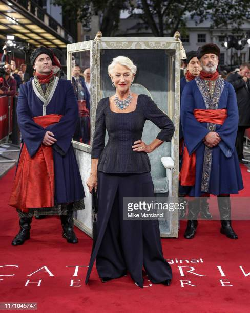 Helen Mirren attends the Catherine The Great UK TV Premiere at The Curzon Mayfair on September 25 2019 in London England