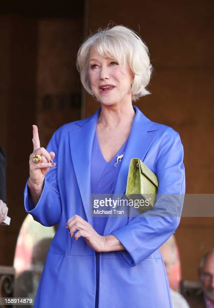 Helen Mirren attends the ceremony honoring her with a Star on The Hollywood Walk of Fame held on January 3 2013 in Hollywood California