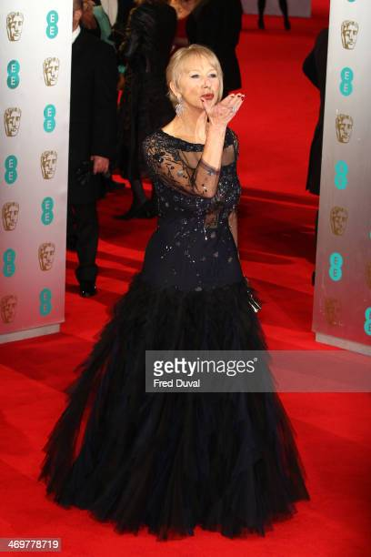 Helen Mirren attends the EE British Academy Film Awards 2014 at The Royal Opera House on February 16 2014 in London England
