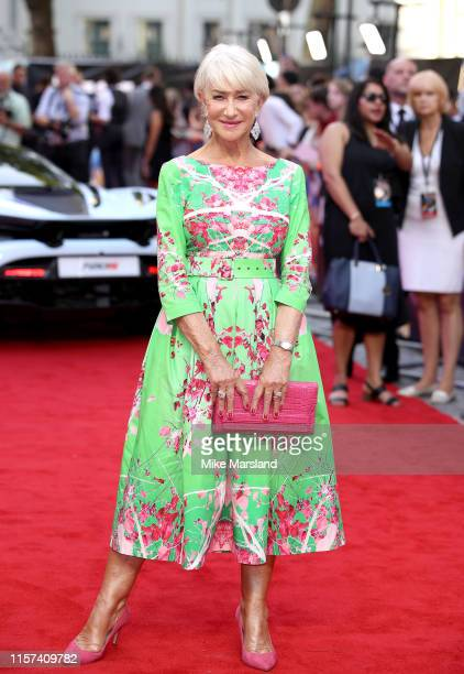 Helen Mirren attends the Fast Furious Hobbs Shaw Special Screening at The Curzon Mayfair on July 23 2019 in London England
