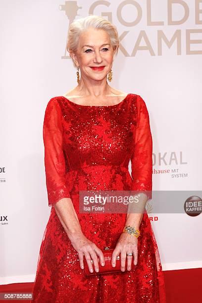 Helen Mirren attends the Goldene Kamera 2016 on February 6 2016 in Hamburg Germany