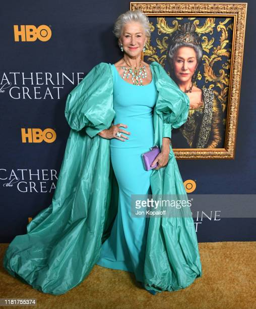 Helen Mirren attends the Los Angeles Premiere Of The New HBO Limited Series Catherine The Great at The Billy Wilder Theater at the Hammer Museum on...