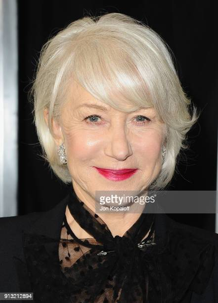 Helen Mirren attends the Los Angeles premiere 'Winchester' at Cinemark Playa Vista on February 1 2018 in Los Angeles California