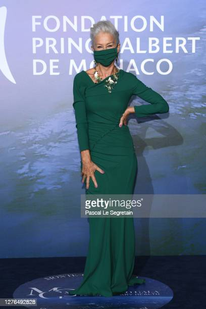 Helen Mirren attends the Monte-Carlo Gala For Planetary Health on September 24, 2020 in Monte-Carlo, Monaco.