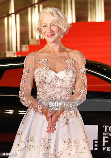 Helen Mirren attends the opening ceremony of the Tokyo International Film Festival 2015 at Roppongi Hills on October 22 2015 in Tokyo Japan