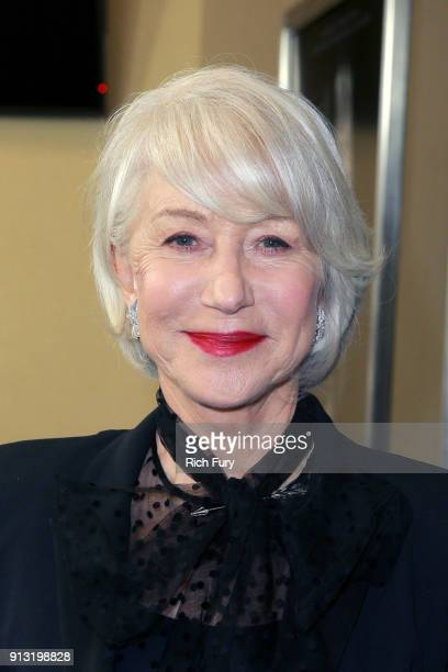 Helen Mirren attends the premiere of CBS Films' 'Winchester' at Cinemark Playa Vista on February 1 2018 in Los Angeles California