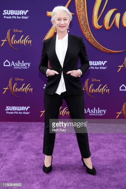 Helen Mirren attends the premiere of Disney's Aladdin on May 21 2019 in Los Angeles California