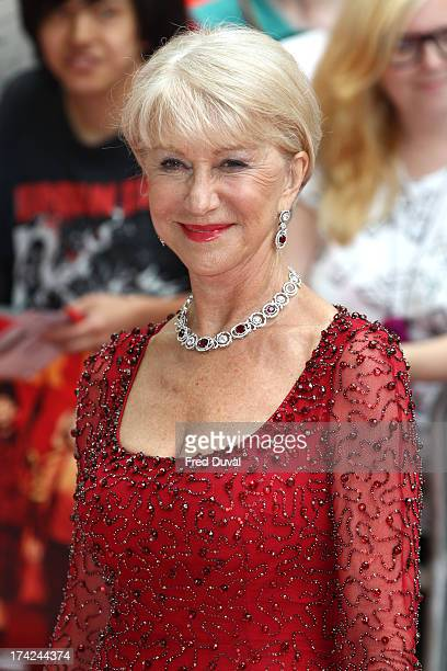 Helen Mirren attends the Red 2 Premiere at Empire Leicester Square on July 22 2013 in London England